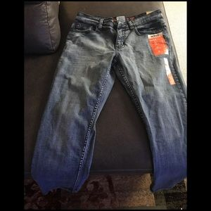relaxed straight bluejeans